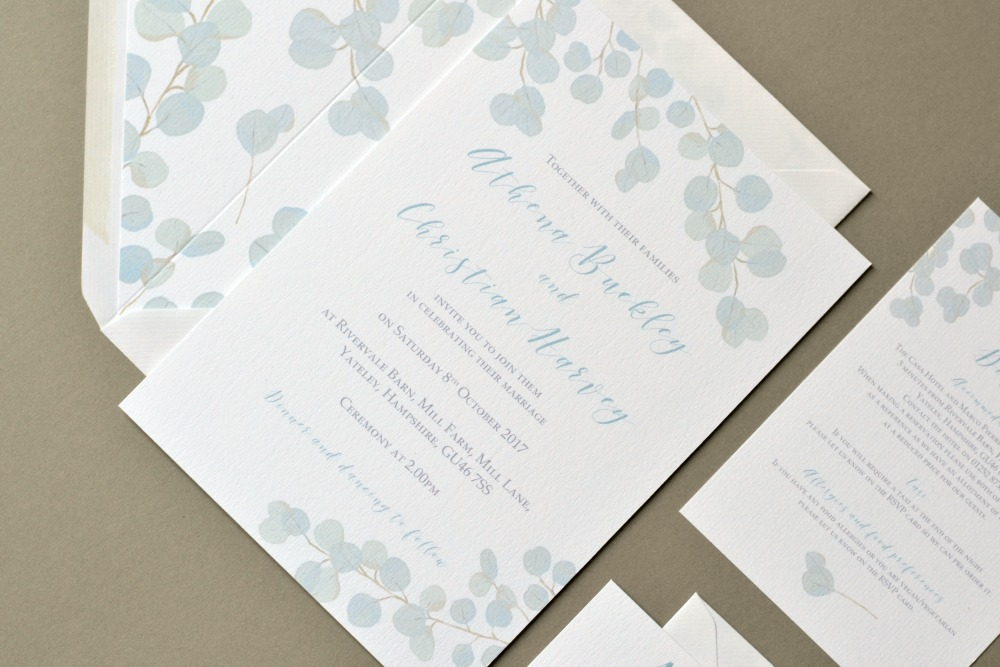 Eucalyptus Wedding Invites