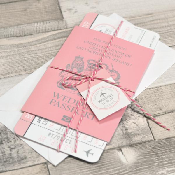Passport Travel Wedding Invitation