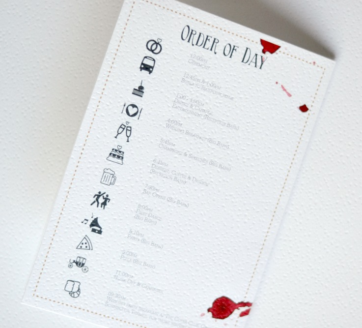 Vineyard Wedding Wine Stained Wedding Stationery