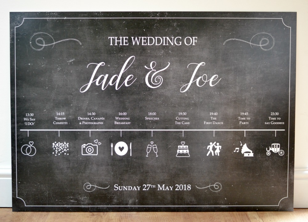 Wedding Order Of The Day: Wedding Timeline, Order Of Day Sign