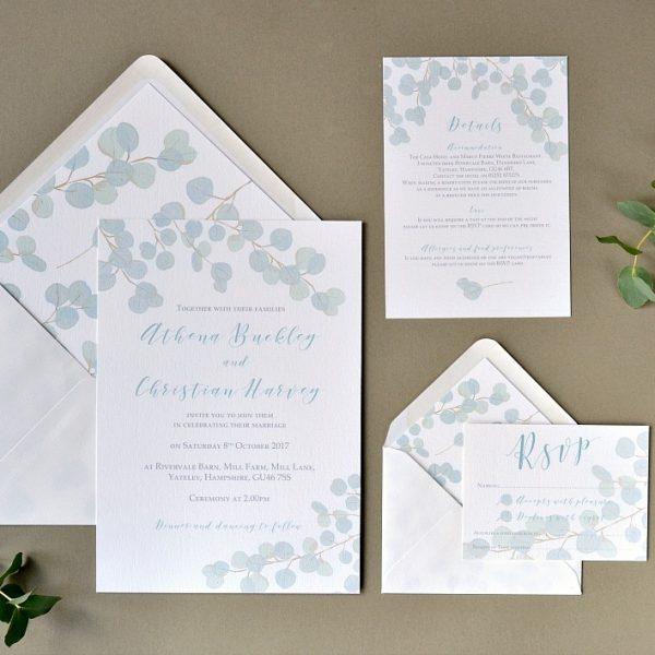 Eucalyptus wedding invites eucalyptus filmwisefo