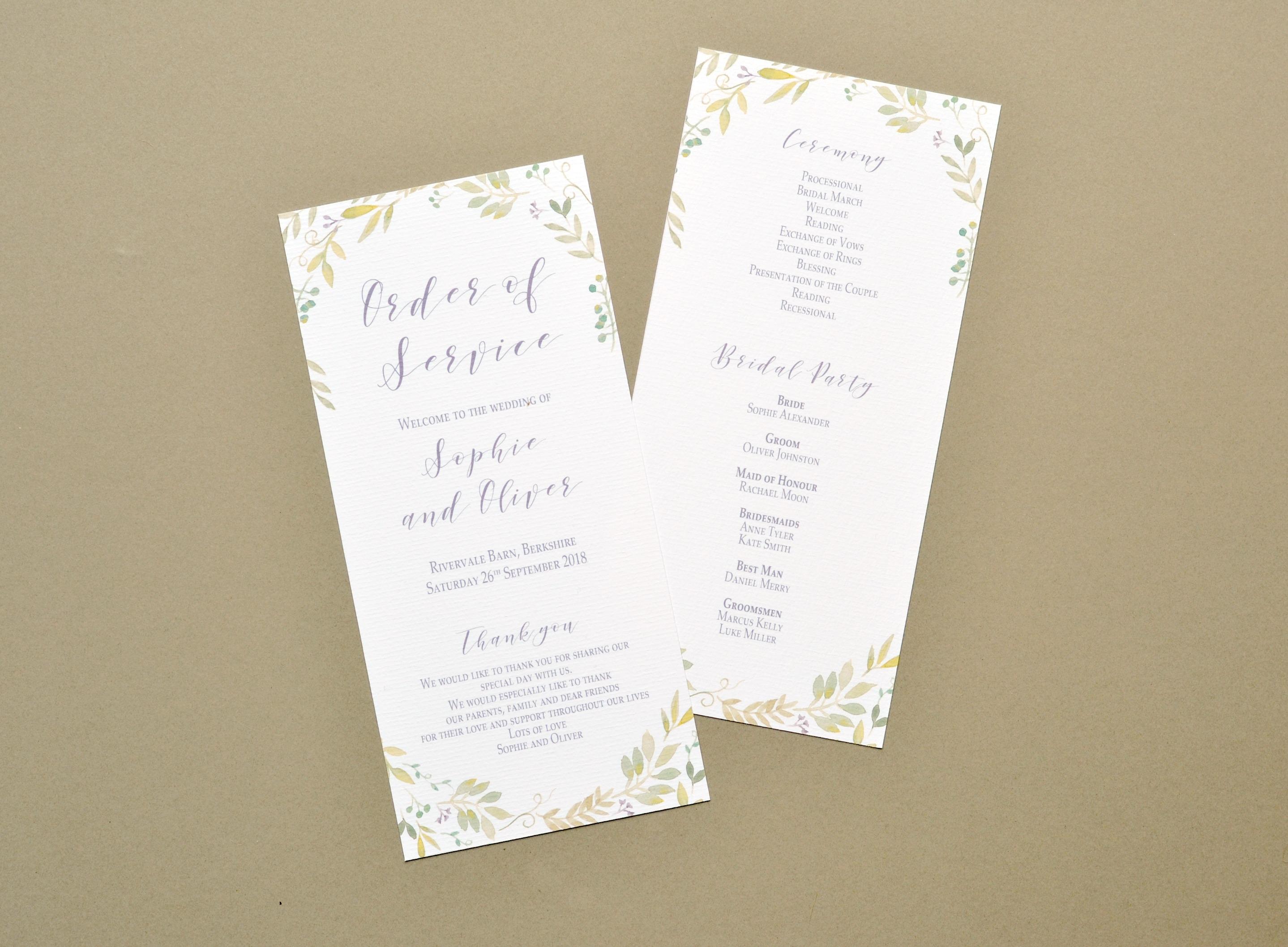 Country garden wreath wedding invitations