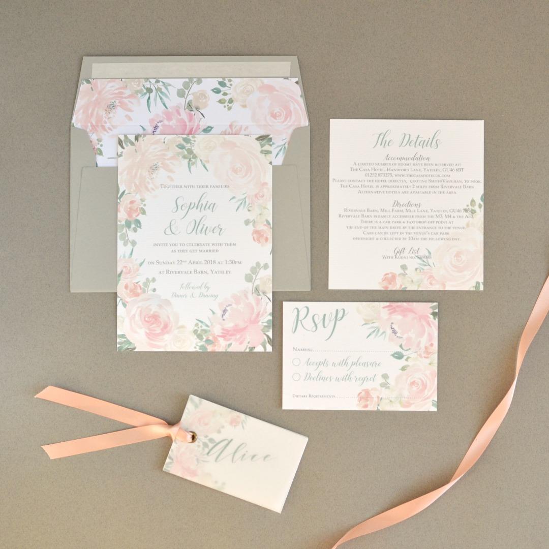 Rose Blush Wedding Stationery