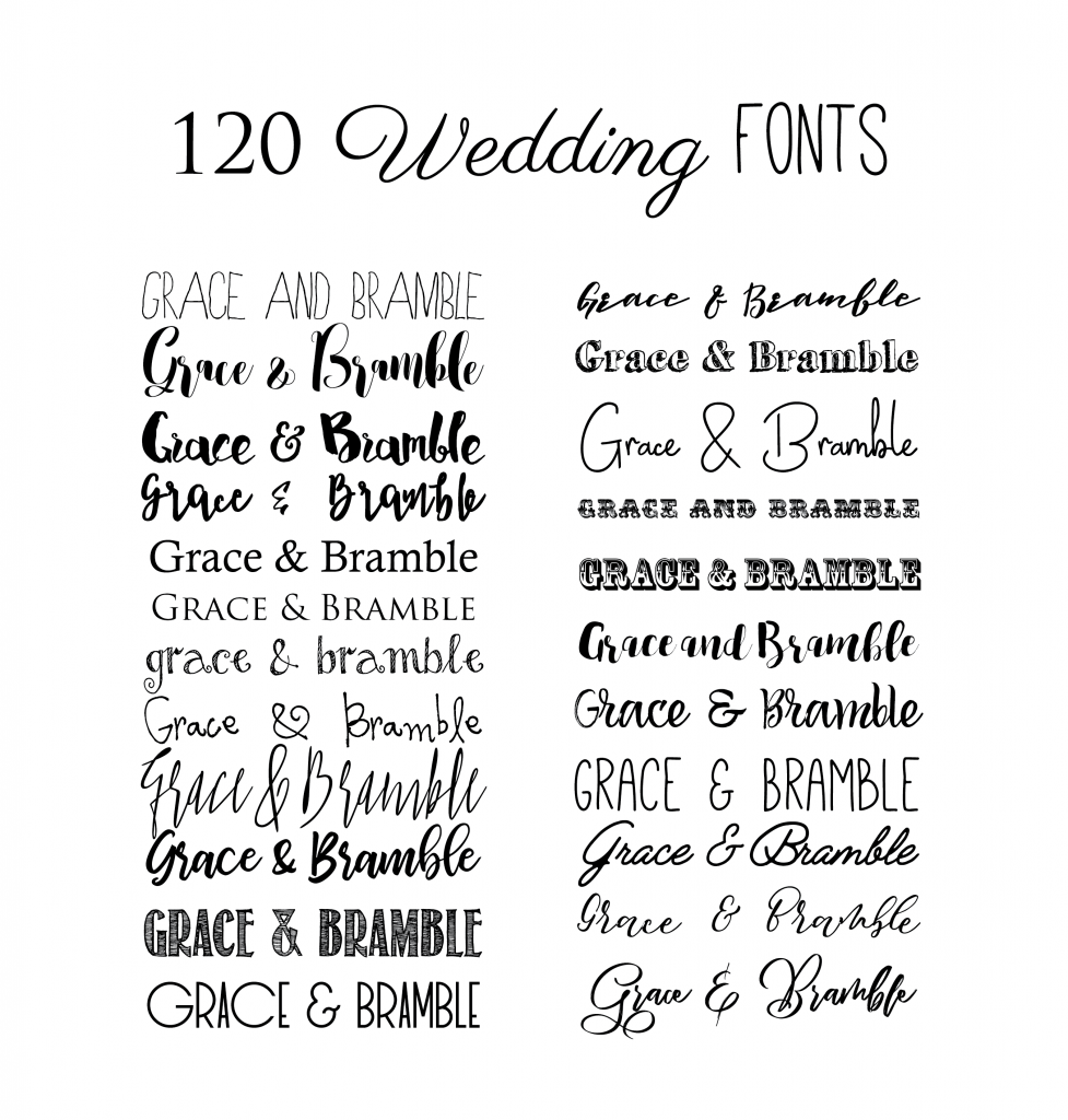 120 Best Wedding Stationery fonts